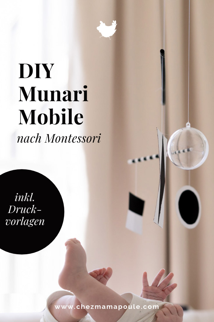 Munari Mobile DIY for the baby room: Montessori Mobile tinker with Bruno Munari. Why mobiles are not there to make you tired. But to give babies the first flow. More about Montessori at home and a DIY tutorial for the beautiful baby DIY toys at: www.chezmamapoule.com #nursery #montessori #week bed #baby #mobile #selve #baby gifts Gifts for childbirth