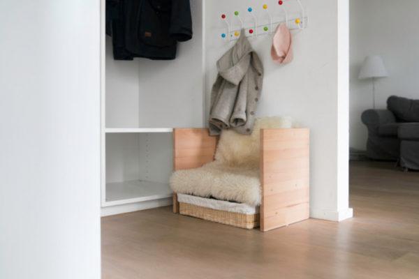 diy kindergarderobe mit berlinerhocker chez mama poule. Black Bedroom Furniture Sets. Home Design Ideas