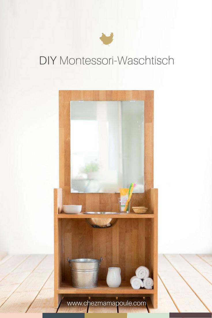 DIY Waschtisch nach Montessori chezmamapoule.com Pin