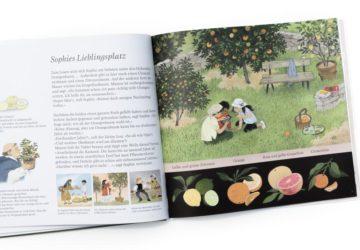 """Jetzt sind auch die Kirschen reif von Gerda Muller. Ein Blick ins Buch sowie eine Buchrezension auf dem Blog """"Chez Mama Poule"""". Sommerbücher, Bilderbücher für Kinder, Bücher für Kita oder Kindergarten. Realistische Bilderbücher."""