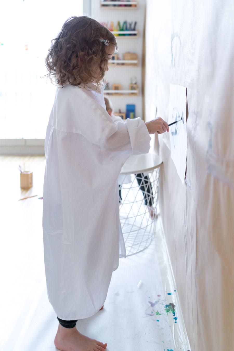 Malen Im Stehen: Unsere Malwand Und Kreativecke Für Kinder. Mit Einem  IKEA Hack