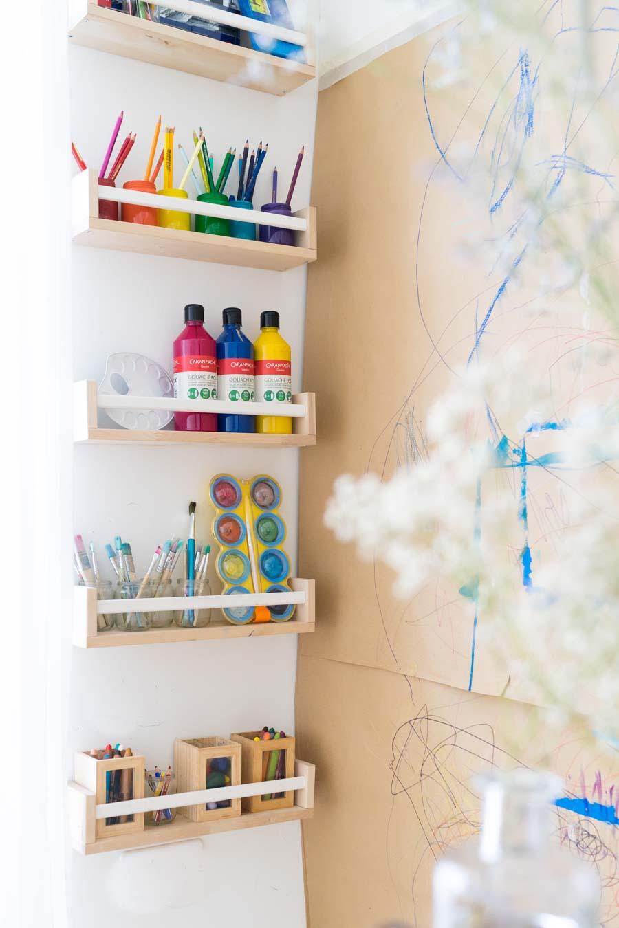 AuBergewohnlich Malen Im Stehen: Unsere Malwand Und Kreativecke Für Kinder. Mit Einem  IKEA Hack