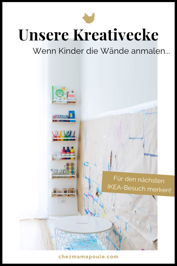 kreativecke und malwand f r mehrere kinder malen im kinderzimmer. Black Bedroom Furniture Sets. Home Design Ideas