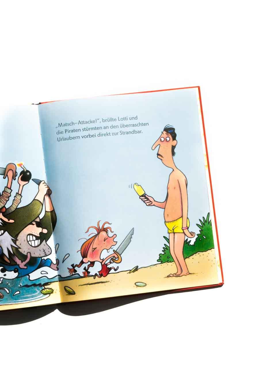 Piratenlotti von Karsten Teich. Bücher über starke Mädchen. Bilderbücher ohne Sexismus und Genderismus. Kinderbücher mit Feminismus und Gleichstellung. Blick ins Buch auf: www.chezmamapoule.com