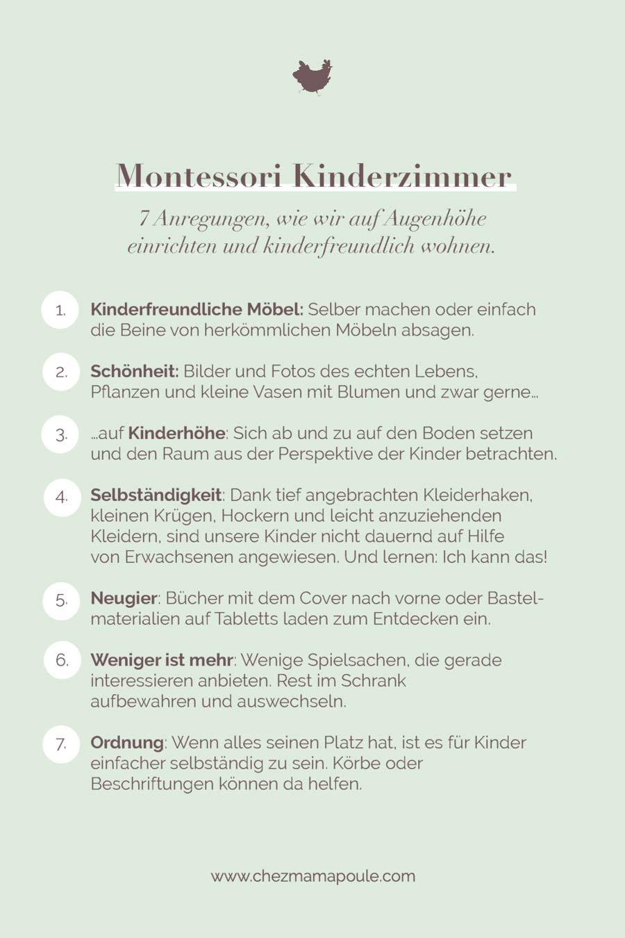 Montessori Kinderzimmer trotz knappem Budget einrichten. Wir liefern 7 Anregungen, wie man mit Kindern auf Augenhöhe wohnen kann. Vorbereitete Umgebung, Minimalismus im Kinderzimmer, Selbständigkeit ermöglichen usw. #erziehung #kleinkind #montessori #montessorizuhause