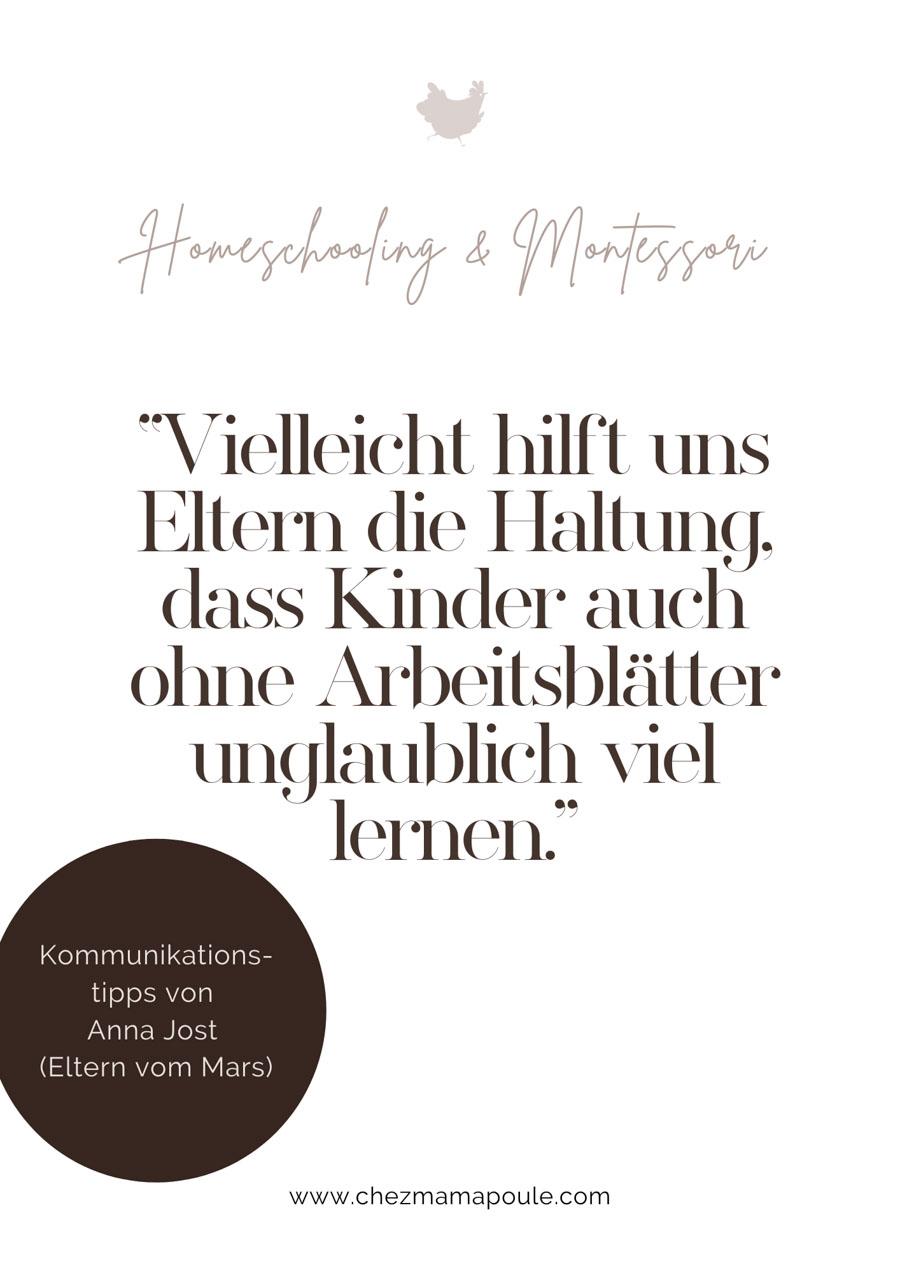 Homeschooling und Montessori: Intervie mit Anna Jost