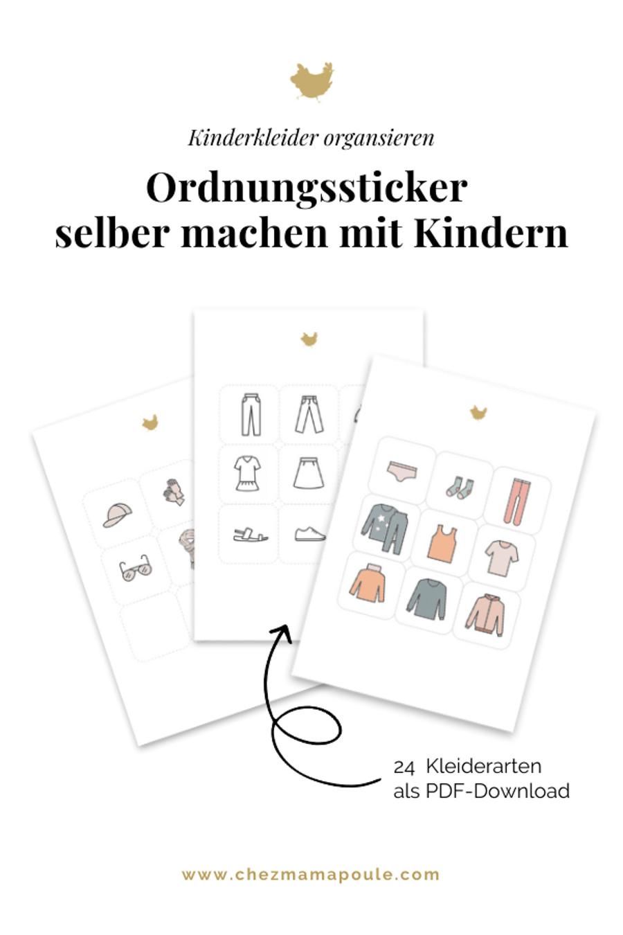 Montessori Druckvorlagen // So wird Aufräumen eine Freude. Ordnungssticker Kinderzimmer download auf chezmamapoule.com