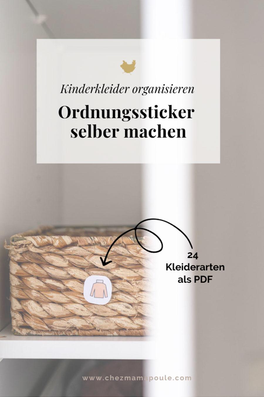 Montessori Druckvorlagen // Kleideretiketten Kinderzimmer download chezmamapoule.com