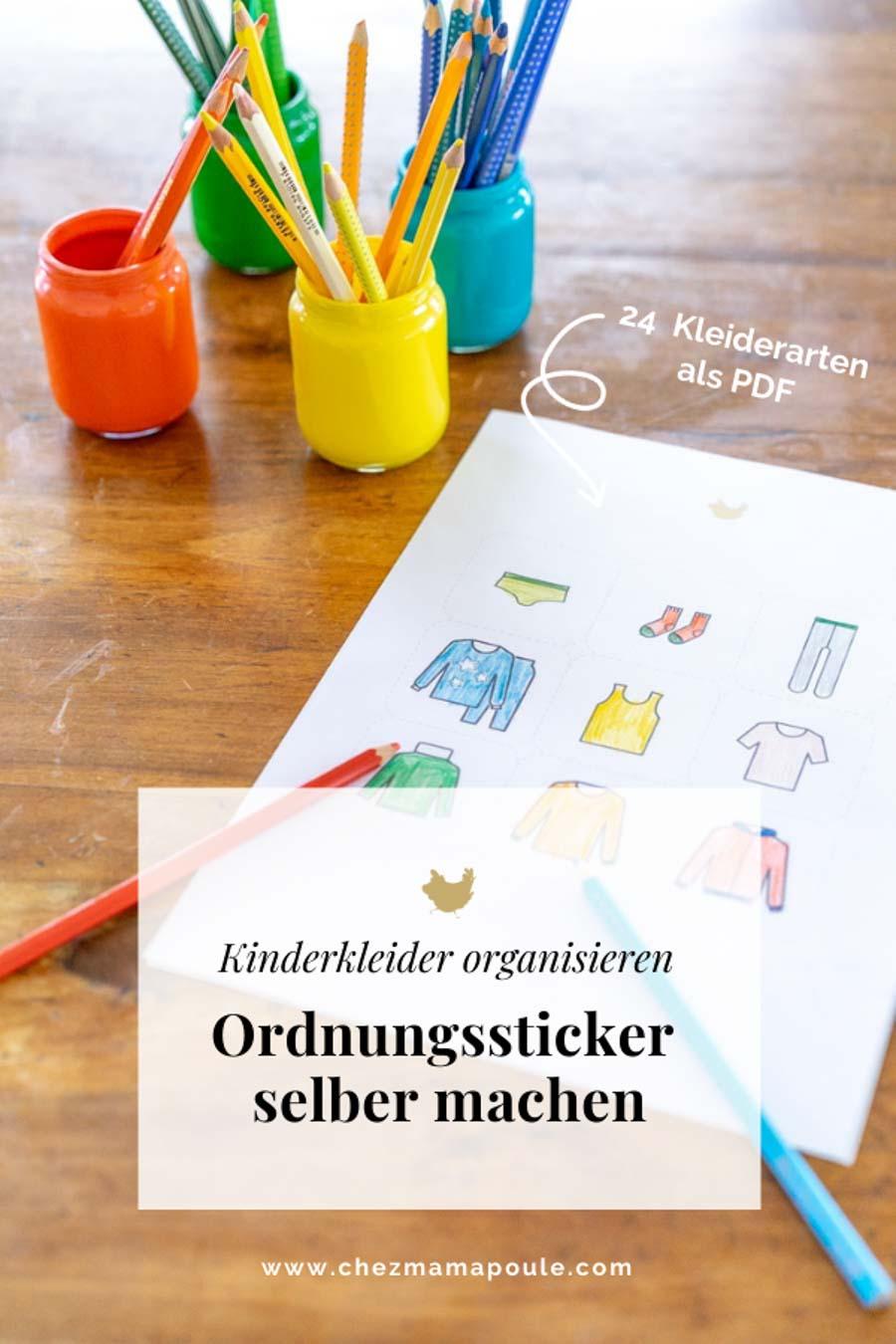 Montessori Druckvorlagen // Kleideretiketten Kinderzimmer download. Aufräumen mit Freude unter: chezmamapoule.com