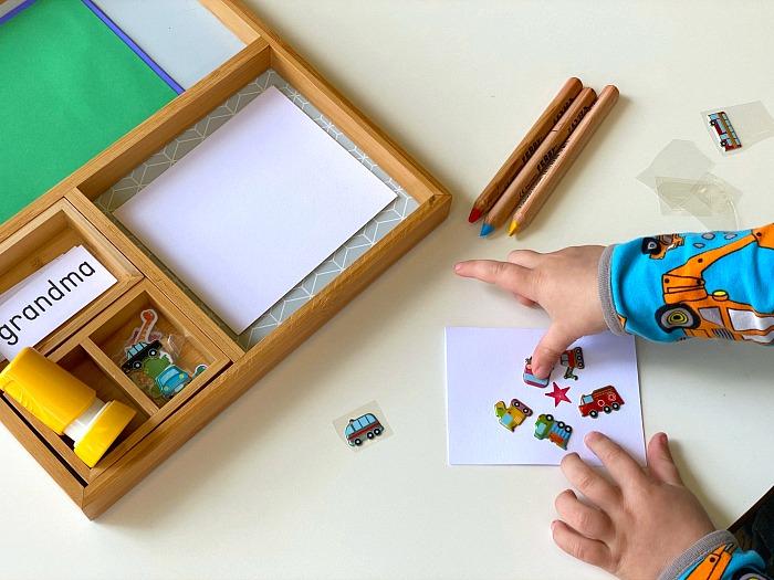 Briefe schrieben Kleinkinder Schritt für Schritt Anleitung