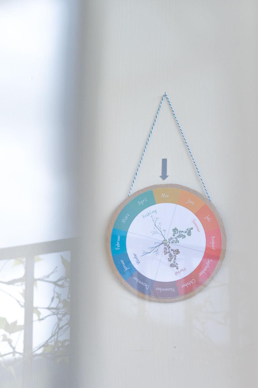 Kalender Vorlage zum Ausdrucken für Kleinkinder